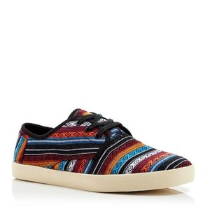 TOMS Men's Paseo Woven Canvas Lace-up Sneakers
